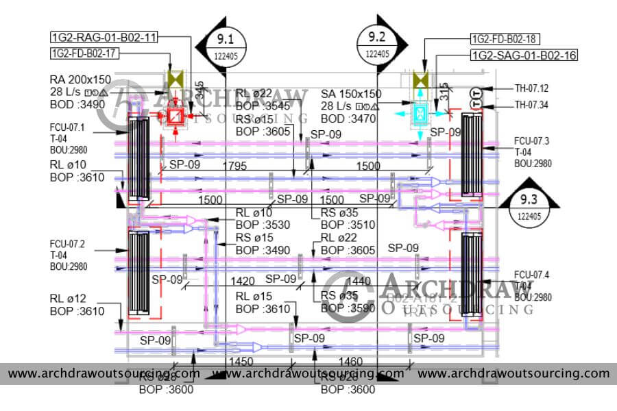 HVAC Duct Shop Drawings Services   Hvac Drawing Standards      Archdraw Outsourcing