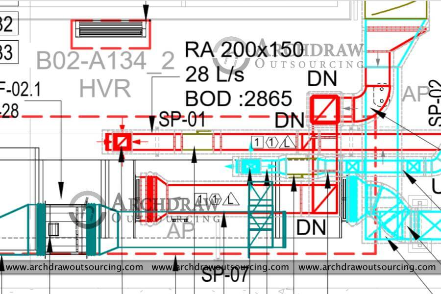 HVAC Duct Shop Drawings Services | Hvac Drawings Pictures |  | Archdraw Outsourcing